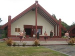 Sample Maori meeting hall - being greeted when we arrived