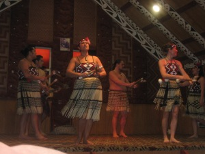 Maori dance performance