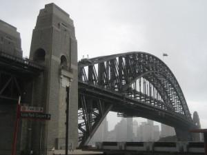 Sydney Harbor Bridge from the north shore's Luna Park