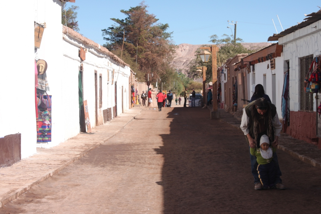 Main Street San Pedro de Atacama, Chile - gateway to the desert