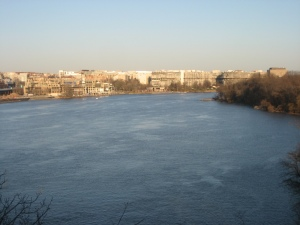 Looking towards Watergate from the Key Bridge above the Potomac