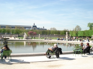 View of Musee d'Orsay from Tuileries Park