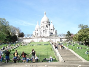 Sacre Coeur in Montmartre in Paris, France