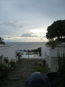 Sea and sunset view in Tobago near Scarborough