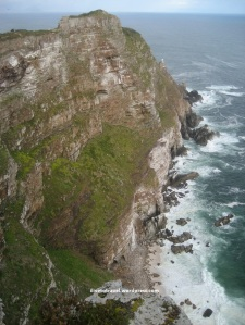 Looking at Cape Point in the Cape of Good Hope in Africa